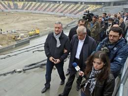 Oprescu si Mircea Sandu la stadion